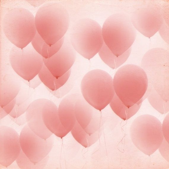 Pink balloons wallpaper. Cute as a phone background also.