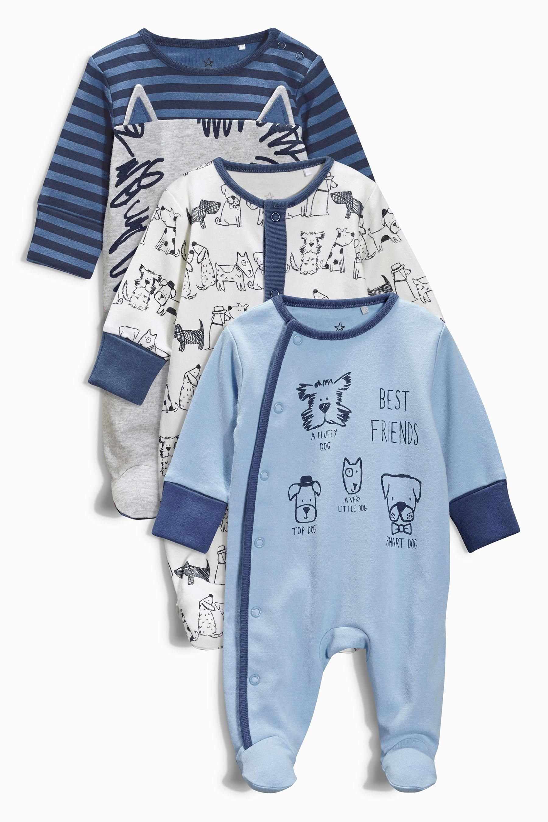 Buy Three Pack Dog Sleepsuits (0mths-2yrs) from the Next ...