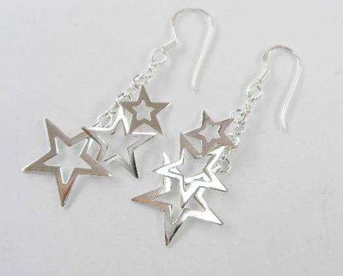 925 sterling sølv øreringe med stjerner. 199,95