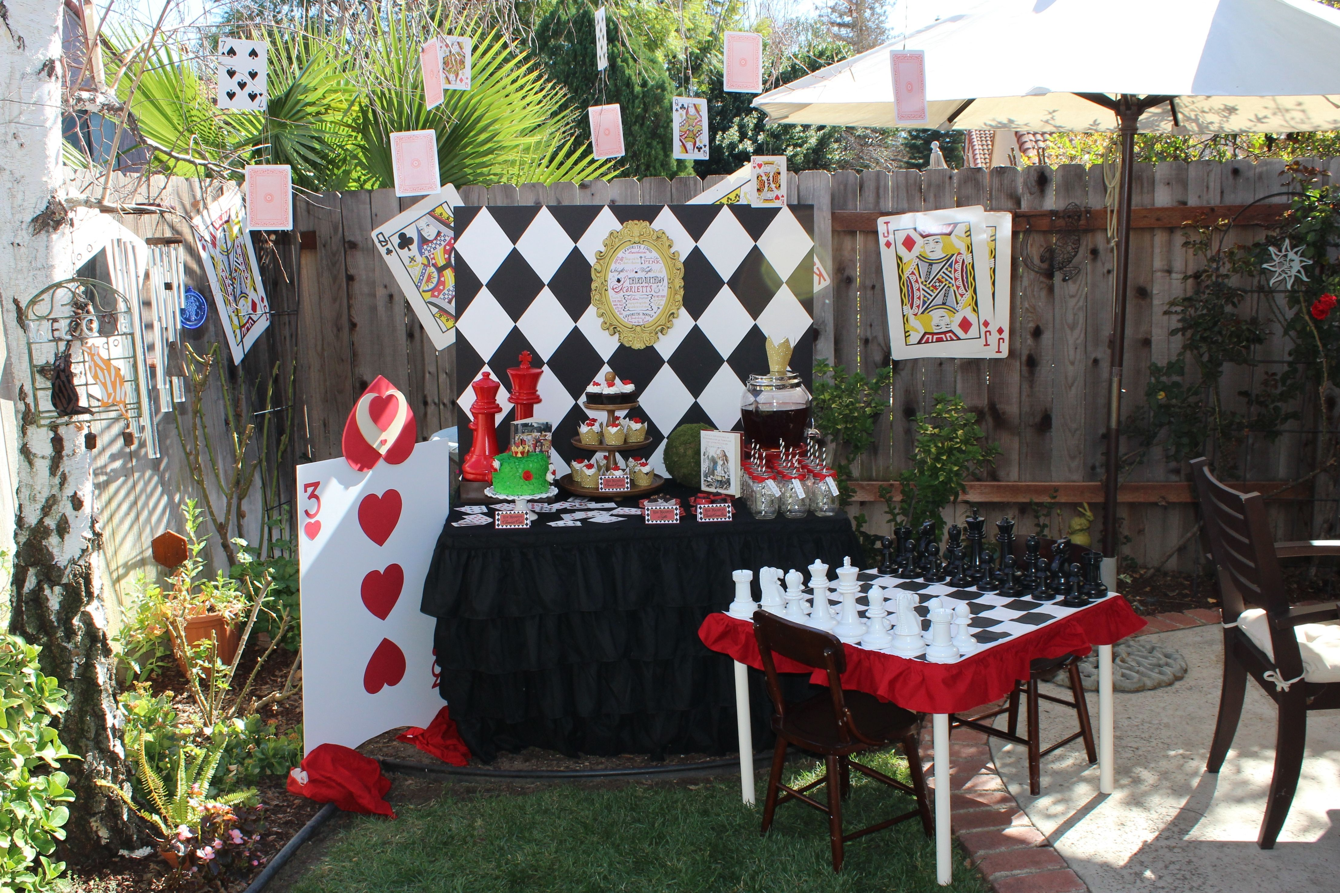 Alice In Wonderland 3Rd Birthday Party