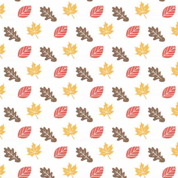 Autumn leaves by Mila Made #pattern #fall #fabric #diy