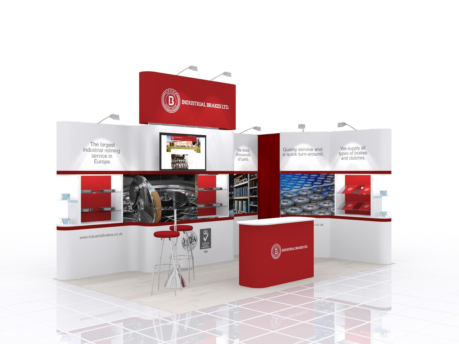 Exhibition Stand Industrial : Exhibition stand design for industrial brakes