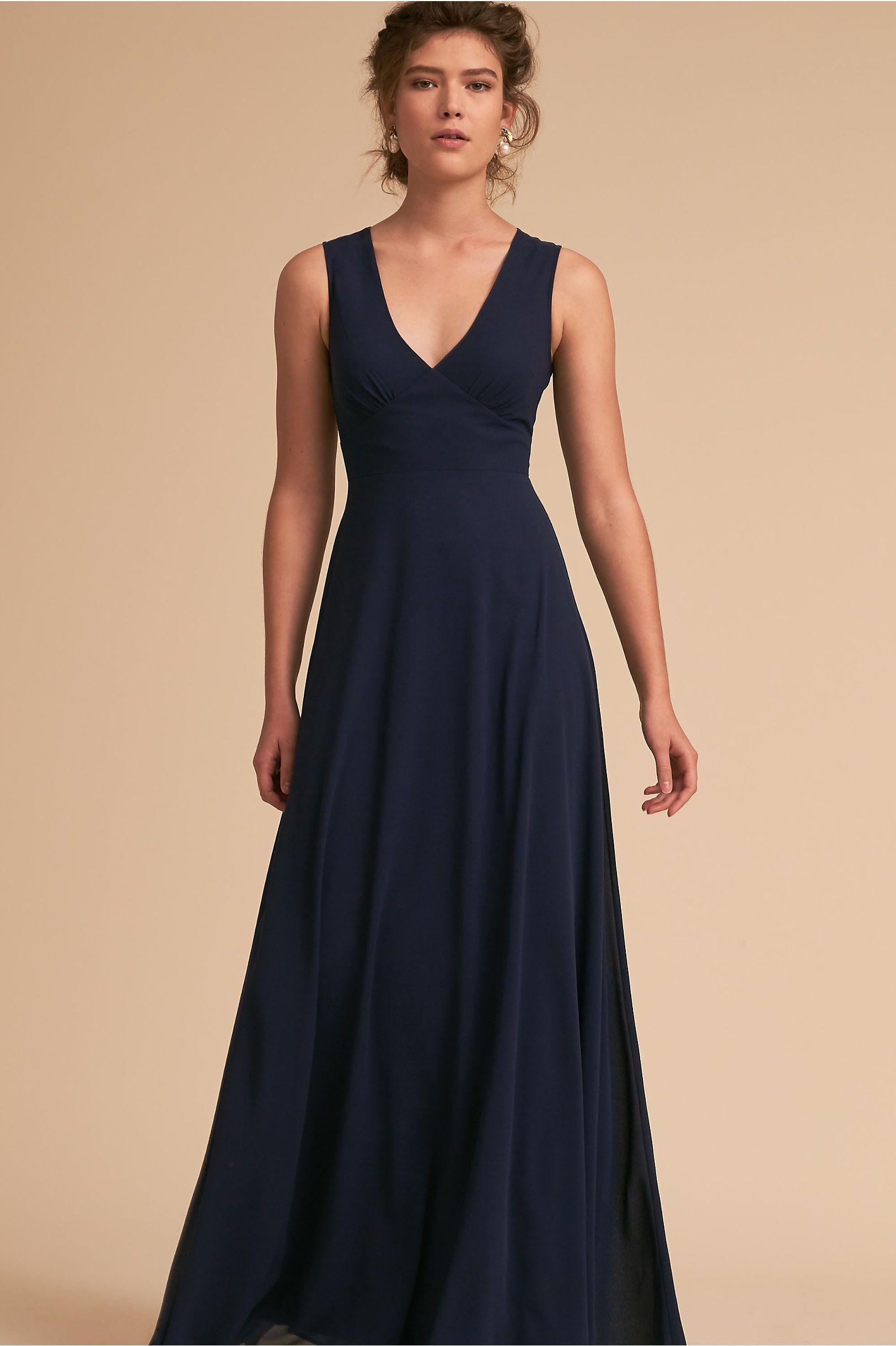 9f9acb659c4 BHLDN Capulet Dress Navy in Bridal Party