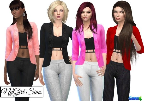 Sims 4 pink jacket