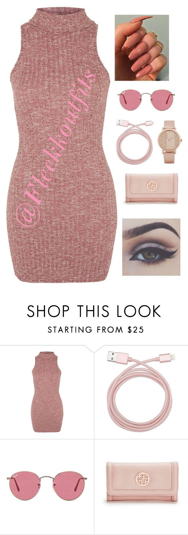 """""""Summer 16' """" by barbiedatrillest ❤ liked on Polyvore featuring Topshop, Belkin, Ray-Ban, GUESS, ALDO and Bellezza"""