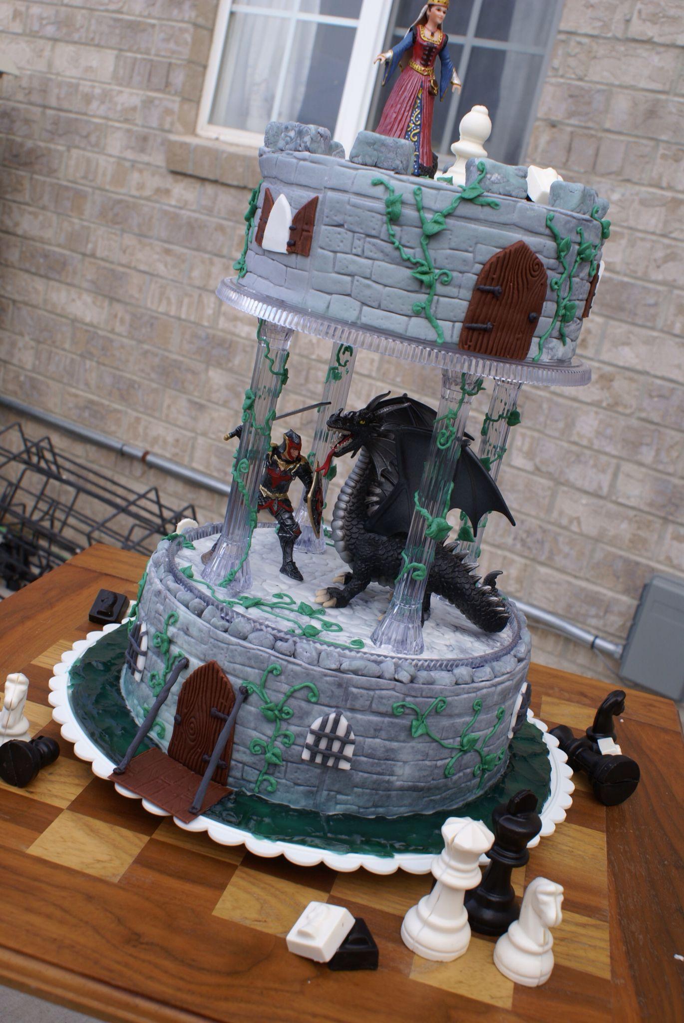 Renaissance Themed Wedding Cake Dragon Imgurl