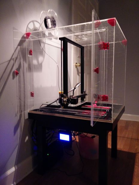 Clear Enclosure For Creality Cr 10 3d Printer Cr 10 3d Printing