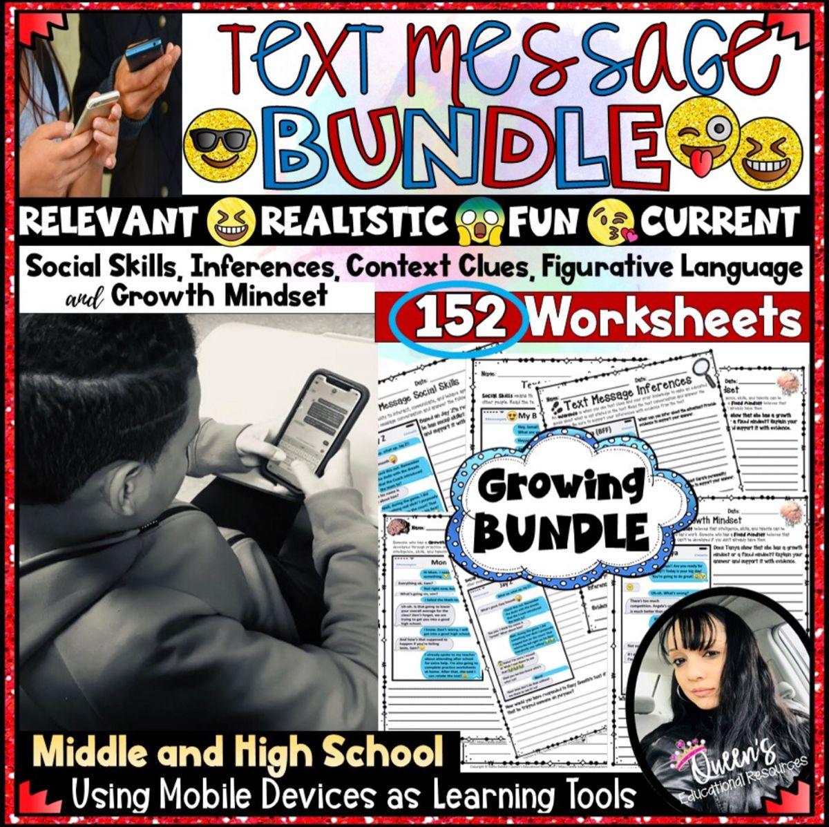 Text Messaging Worksheet Bundle In
