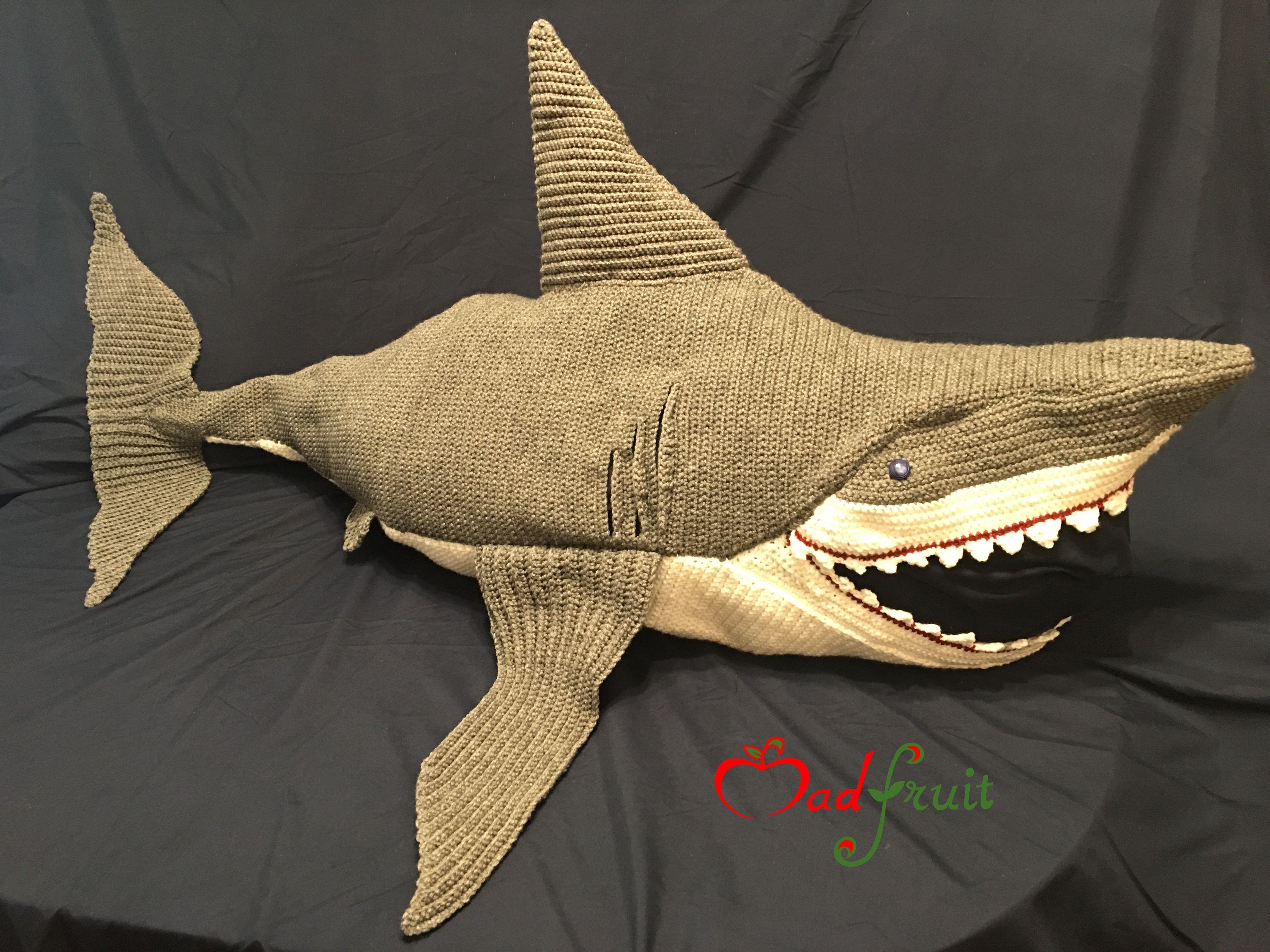 great white shark blanket for kids crochet pattern now available