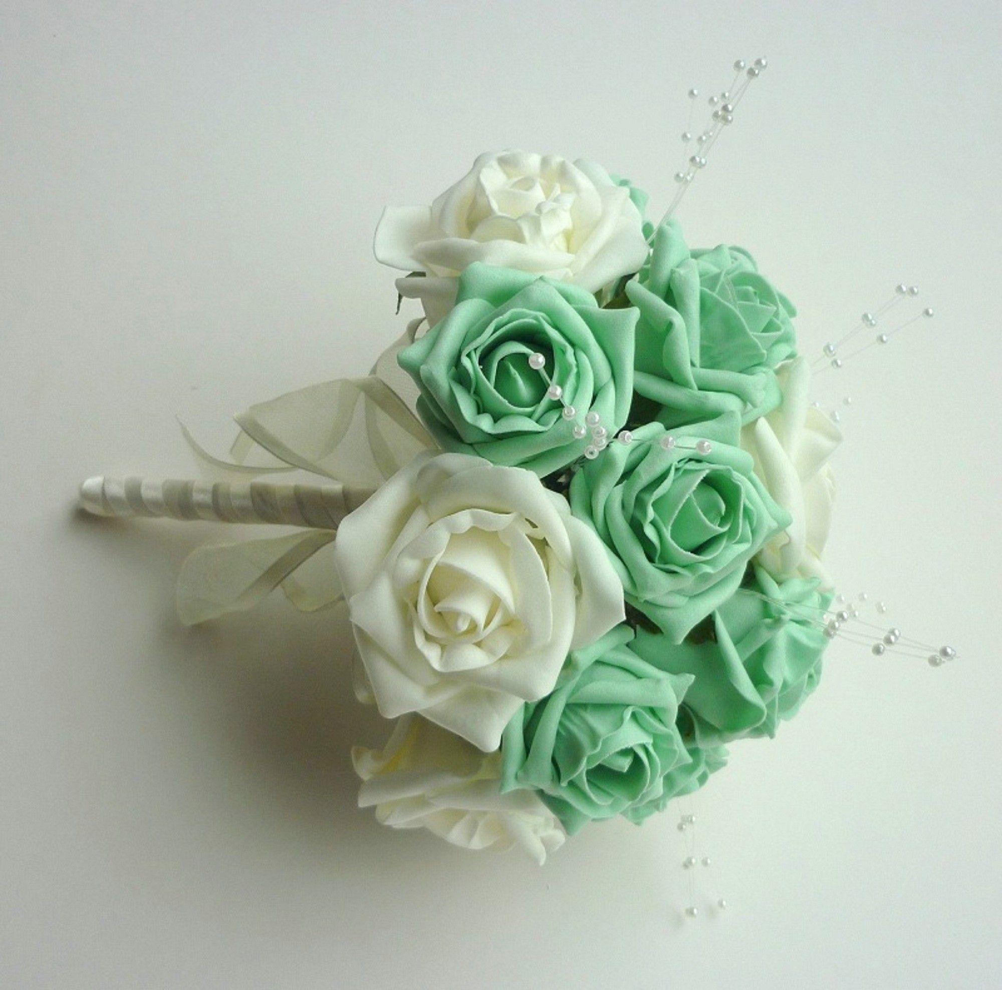 Mint Wedding Flowers: Mint Bridesmaid Bouquet