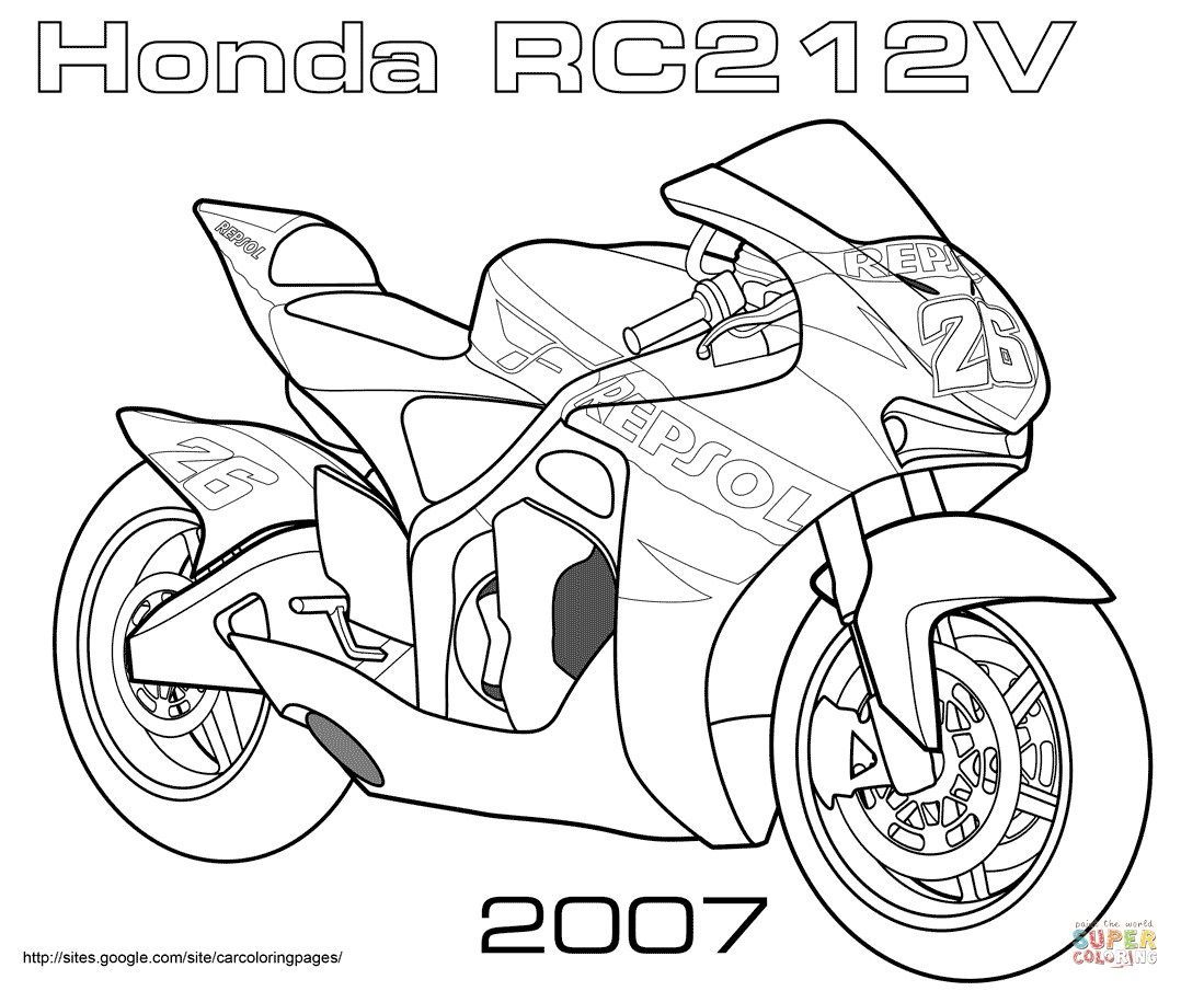 Elegant Image Of Bike Coloring Pages With Images Motorbike Art