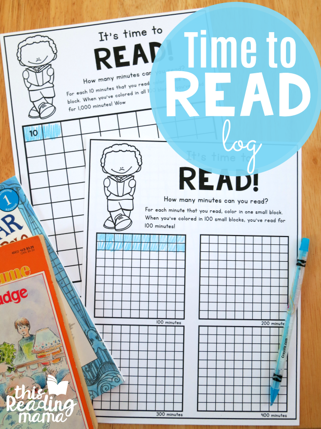 Time to Read: Printable Reading Log