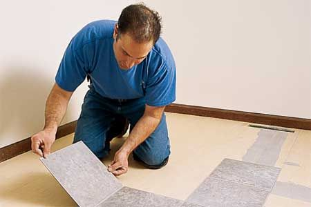 How To Lay A Vinyl Tile Floor Diy Projects Pinterest Color