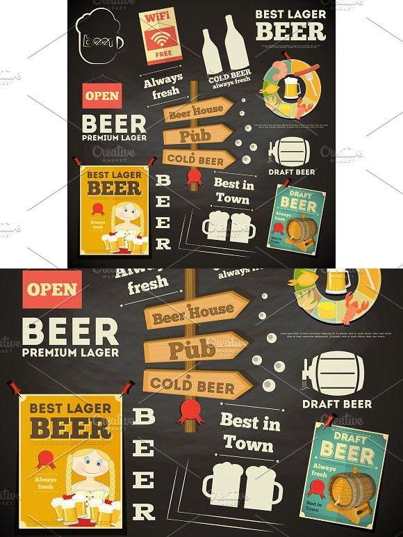 Beer Menu chalkboard design Pinterest Fonts