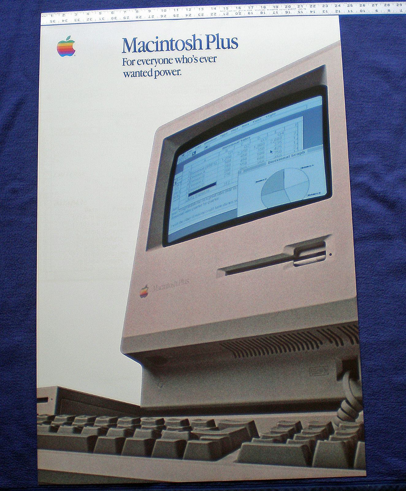 Apple Computer Vintage Macintosh Plus Poster In Excellent Condition 1980s Macintosh Apple Apple Computer