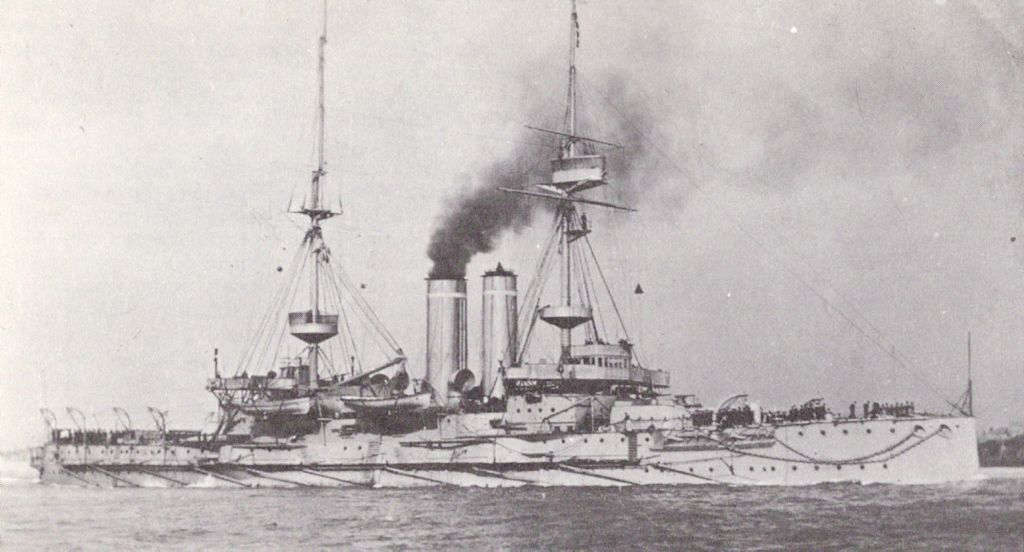 Hms Goliath Ca 1907 After The Addition Of Fire Control And