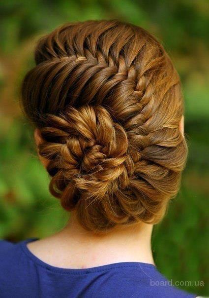 Плетение из кос ракушкой