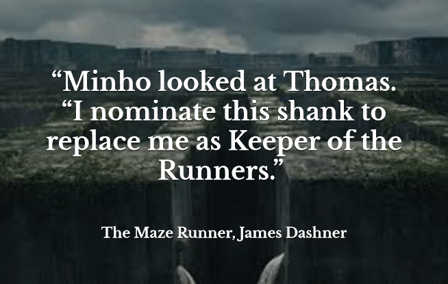 Maze Runner Quotes With Page Numbers: Quote From The Maze Runner By James Dashner