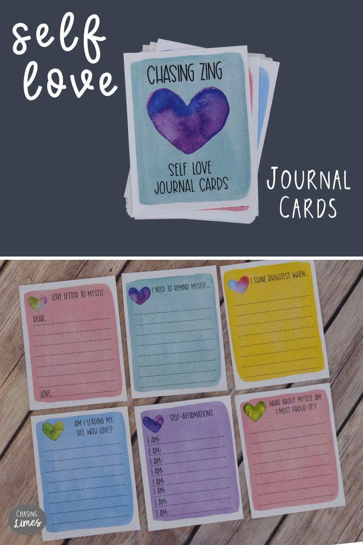 Self Love Printable Journal Cards Self Care And Etsy In 2020 Printable Journal Cards Journal Cards Self Love