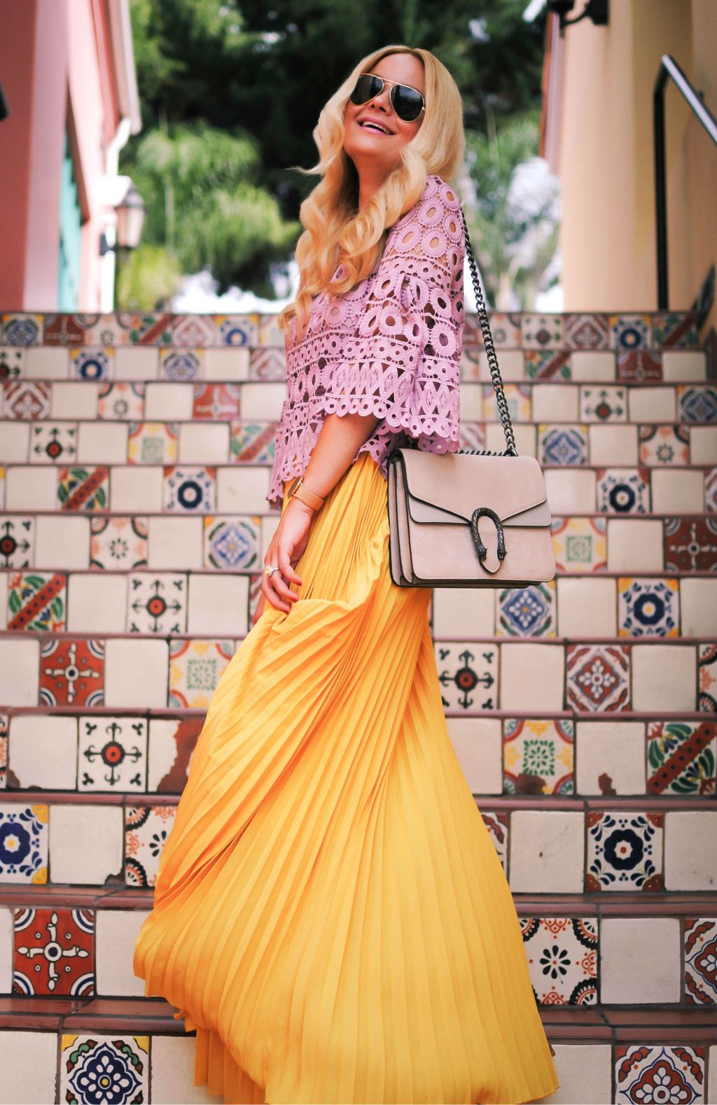 Pleated Maxi Skirt_Los Angeles_Orange County_What Would V Wear_Vanessa Lambert