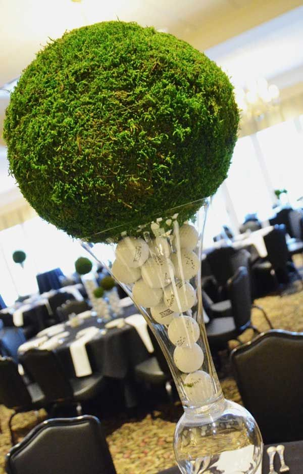 Unique golf tee centerpiece tees pinterest
