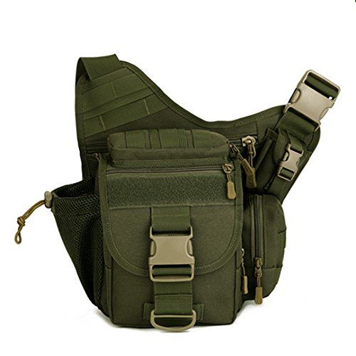 Multi-function/ / / mens chest bag shoulder bag Messenger bag earth yellow