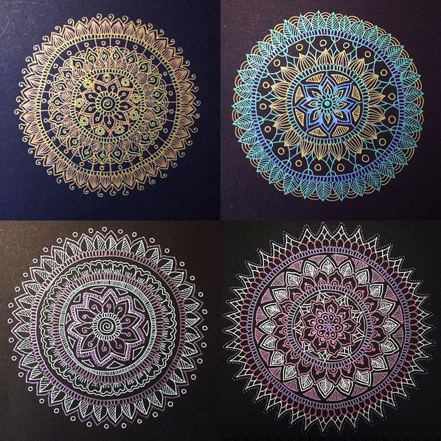 Four Mandalas Mandala Drawing Mandala Mandala Design