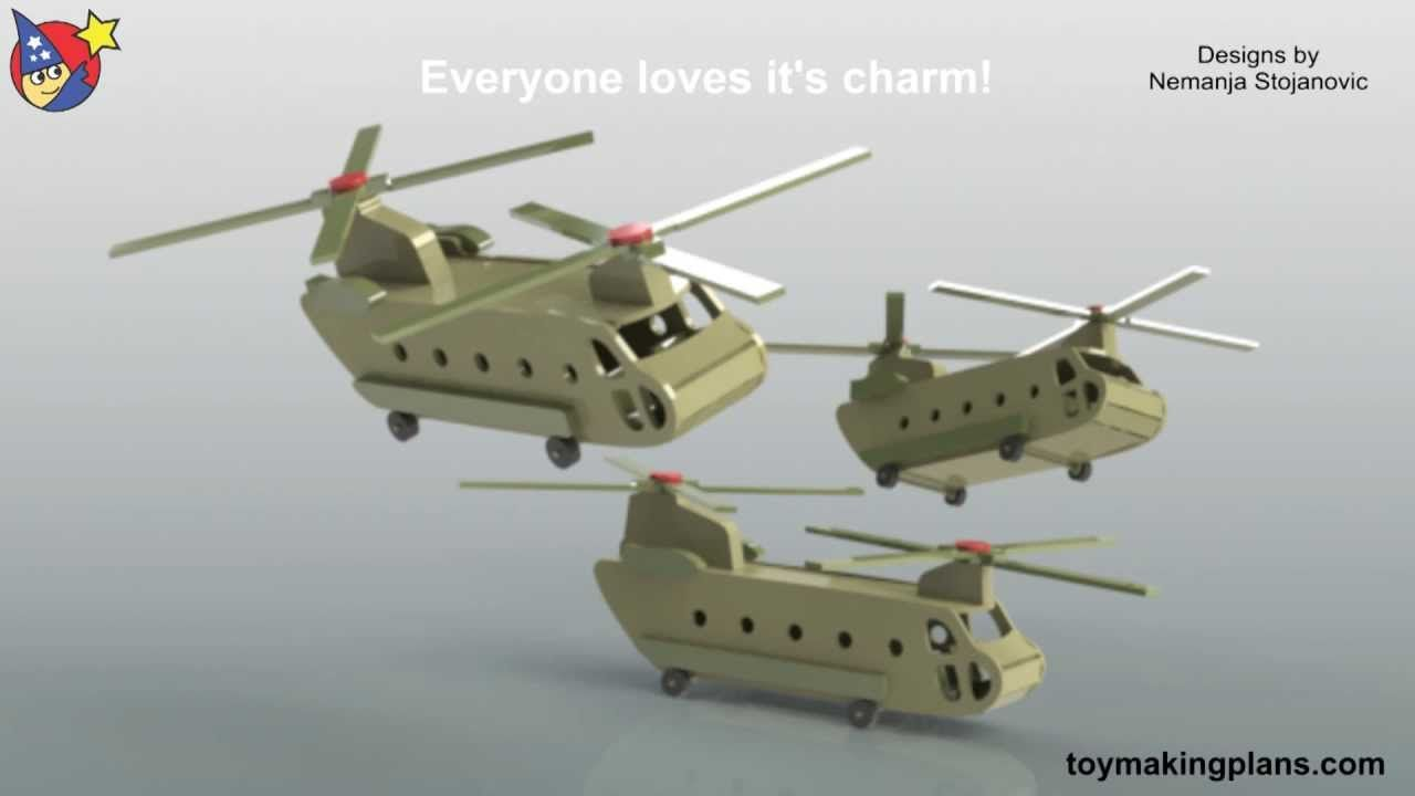 wood toy plans - chinook helicopter vietnam - youtube