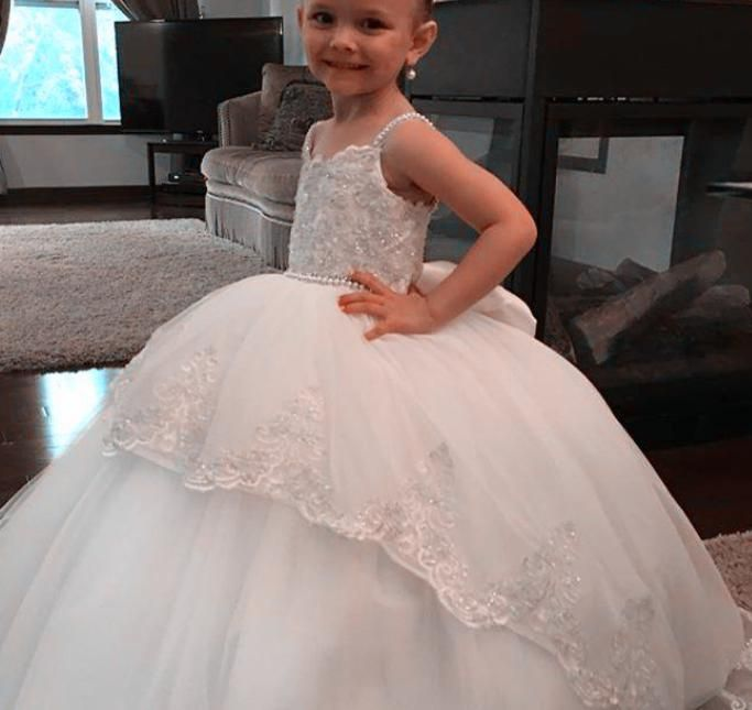 1b77a63776 2018 Fabulous Vintage Bead Flower Girl Dresses For Weddings Custom Made Princess  Tutu Lace Appliques Puffy Kids First Communion Dress