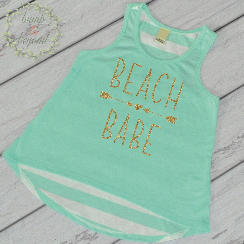 Beach Babe Shirt Summer Vacation Shirt Beach Shirt Toddler Girl