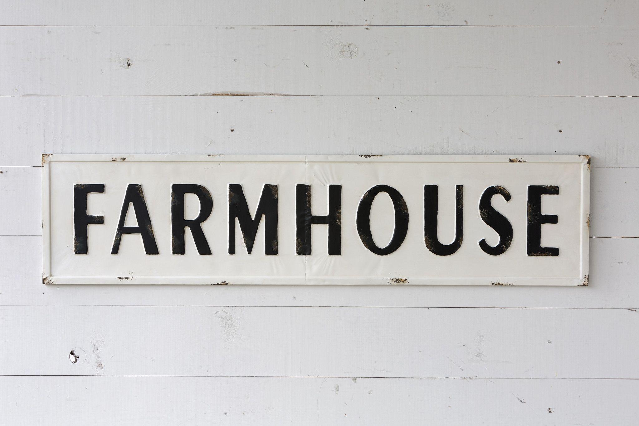 Embossed metal farmhouse sign farmhouse signs farmhouse