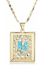 Moochi 18K Gold Plated Blue Allah Pedant Necklace Jewelry Islamic Shinning…