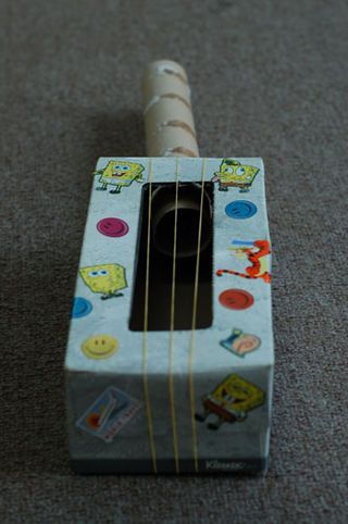 Make A Rainy Day Tissue Box Guitar Great For Kids