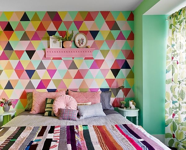 parede pintada geometrico | Home Dreams | Pinterest | Paredes ...
