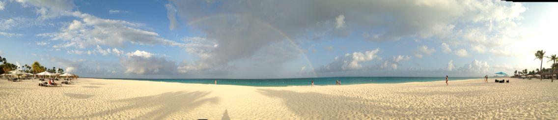Rainbow at Bucuti in Aruba last day of vacation
