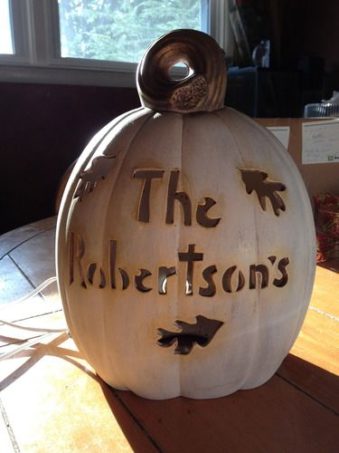 Personalized Light-up Pumpkin up for Bid!!
