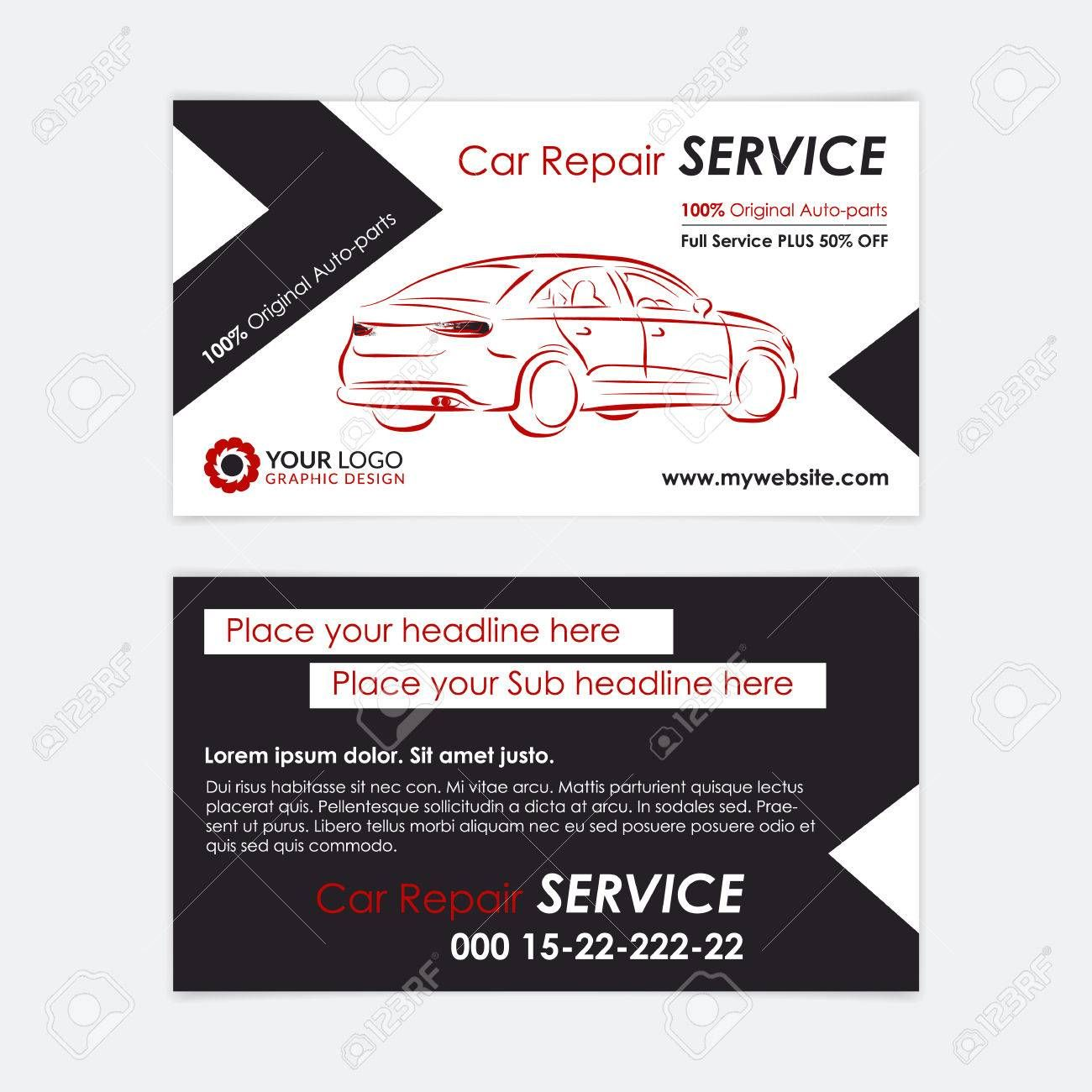 The Mesmerizing Auto Repair Business Card Template Create Your Own Business With Regard Free Business Card Templates Card Templates Create Your Own Business