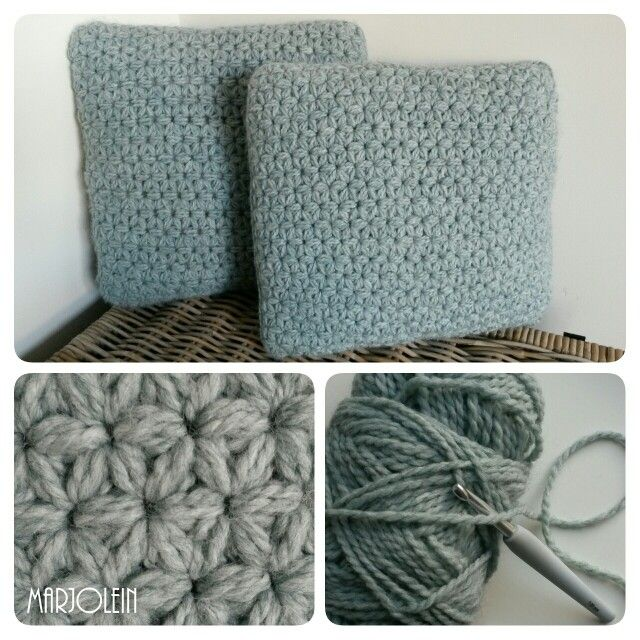 gehaakt kussen jasmijnsteek jasminestitch haken crochet handmade pillows pinterest. Black Bedroom Furniture Sets. Home Design Ideas
