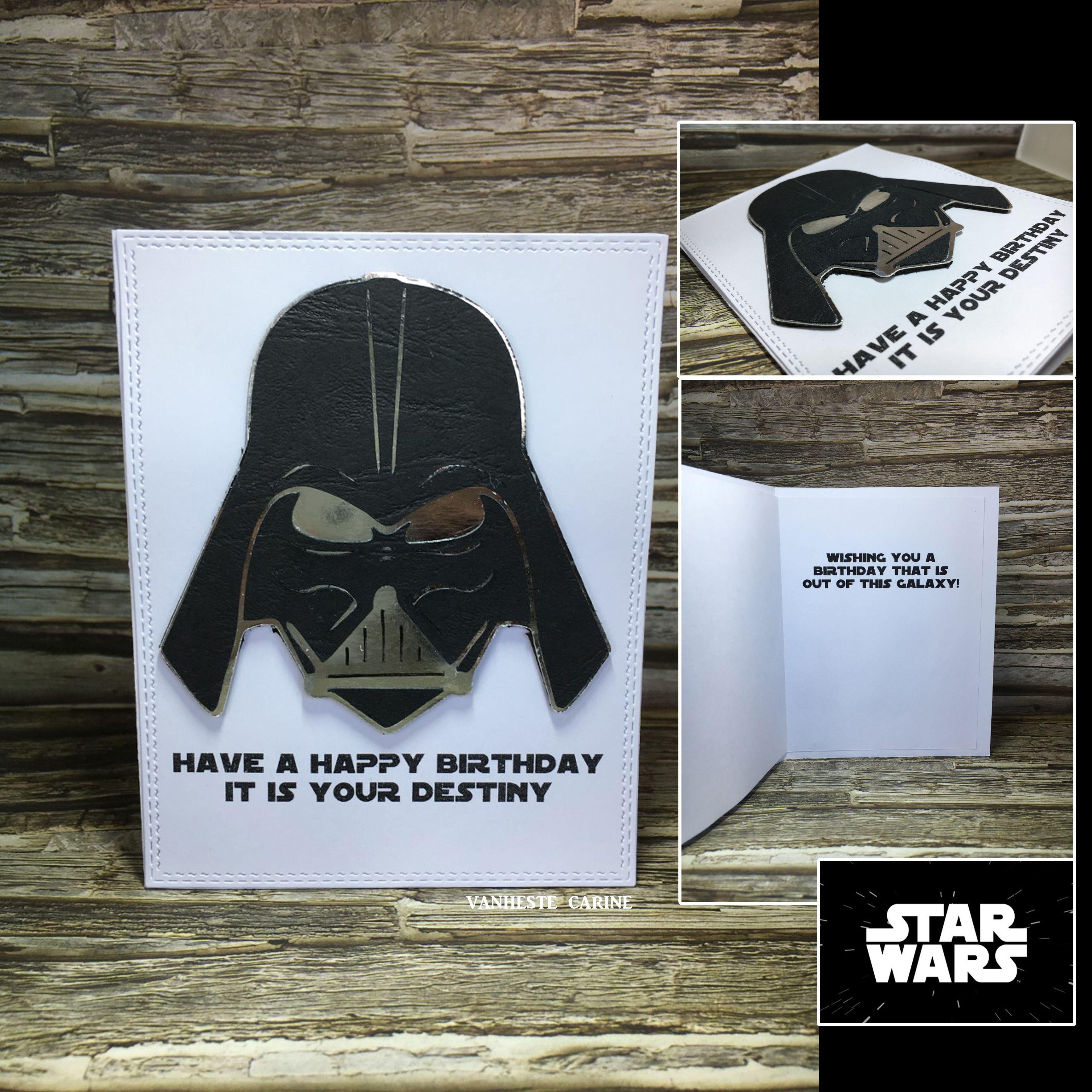 Star Wars Darth Vader Birthday Card Vanheste Carine Starwars Birthday Card Birthday Cards Star Wars Birthday