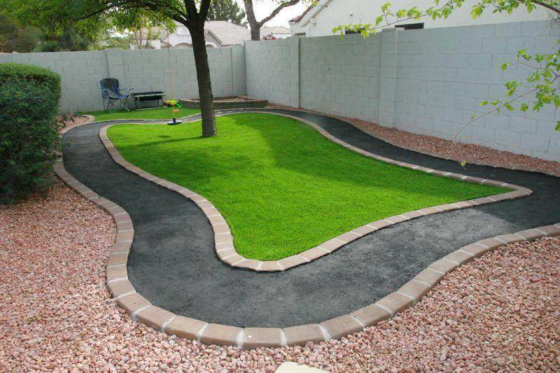 Fakegrasstracksandbox Play Area Backyard Outdoor Kids Play Area Backyard