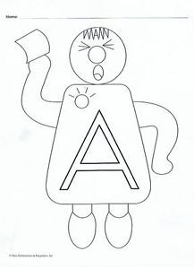 Original Letter People Printables | Details about coloring masters
