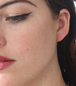 Catbird Big Secret Silver Earring 3WqoS2b