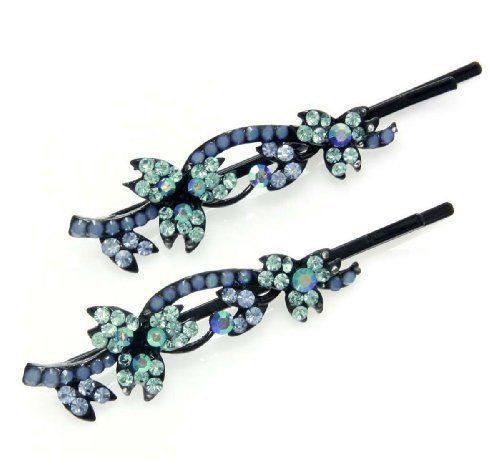 Light Sapphire with Aqua Marine Blossom Bobby Pins Willowbee. $14.99. We box these in our very own Willowbee Accessories Gift Boxes. These make great gifts and to top it all off we offer Free Shipping within the U.S.A!!!. High Quality Jewelry Hair Clips Accessories that are most Unique Stylish and Affordable. Creates a strong hold to secure hair in place. Crystal. Our Jewelry Hair Accessories are mainly made from Polished Metal Crystals Pearls Rhinestones and/or G...
