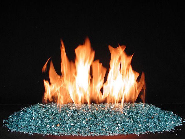 Aqua Glass Fire Ventless Fireplace Burner Gas Fireplace Logs Fire Glass Fireplace Ventless Fireplace