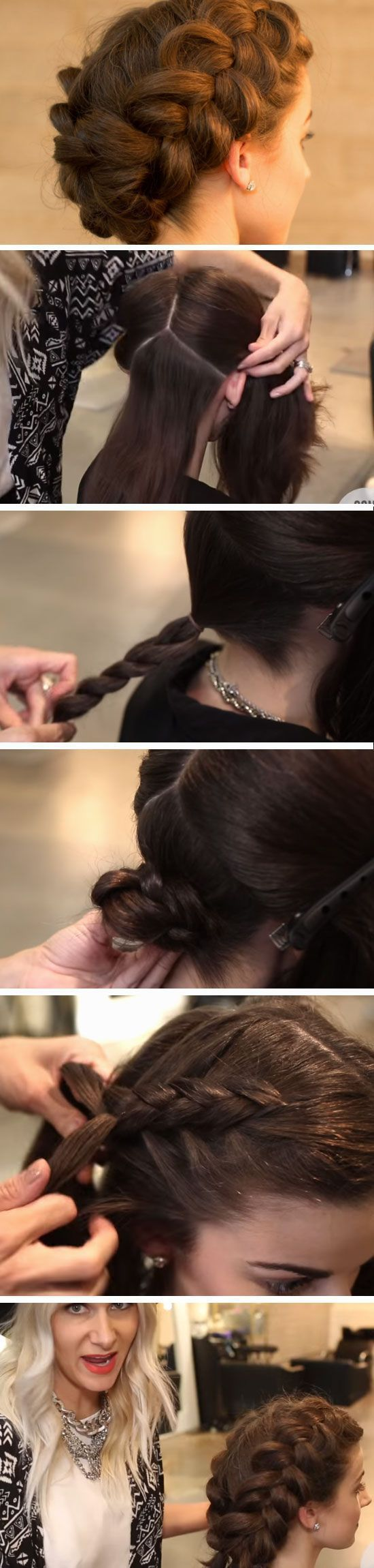 Easy braids easy hair style and makeup