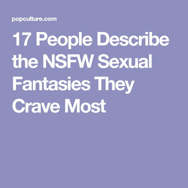 Ideas for sexual fantasies