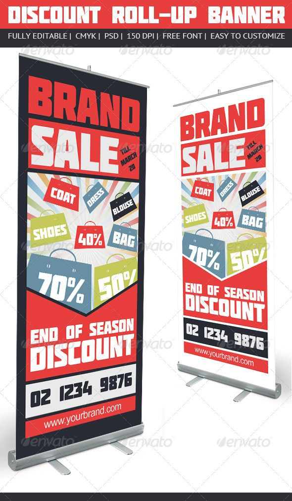 discount roll up banner shops fonts and creative