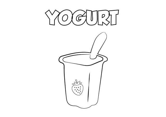 Dibujo Colorear Yogurt Yogur Yogurt Y Alimentos Dibujos