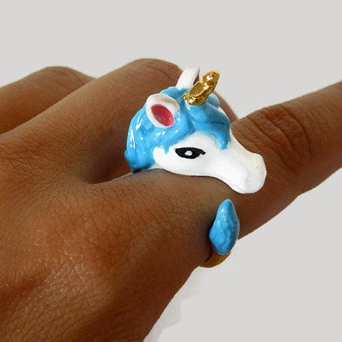 Unicorn Ring Unicorns Unicorn jewelry and Gold plated rings