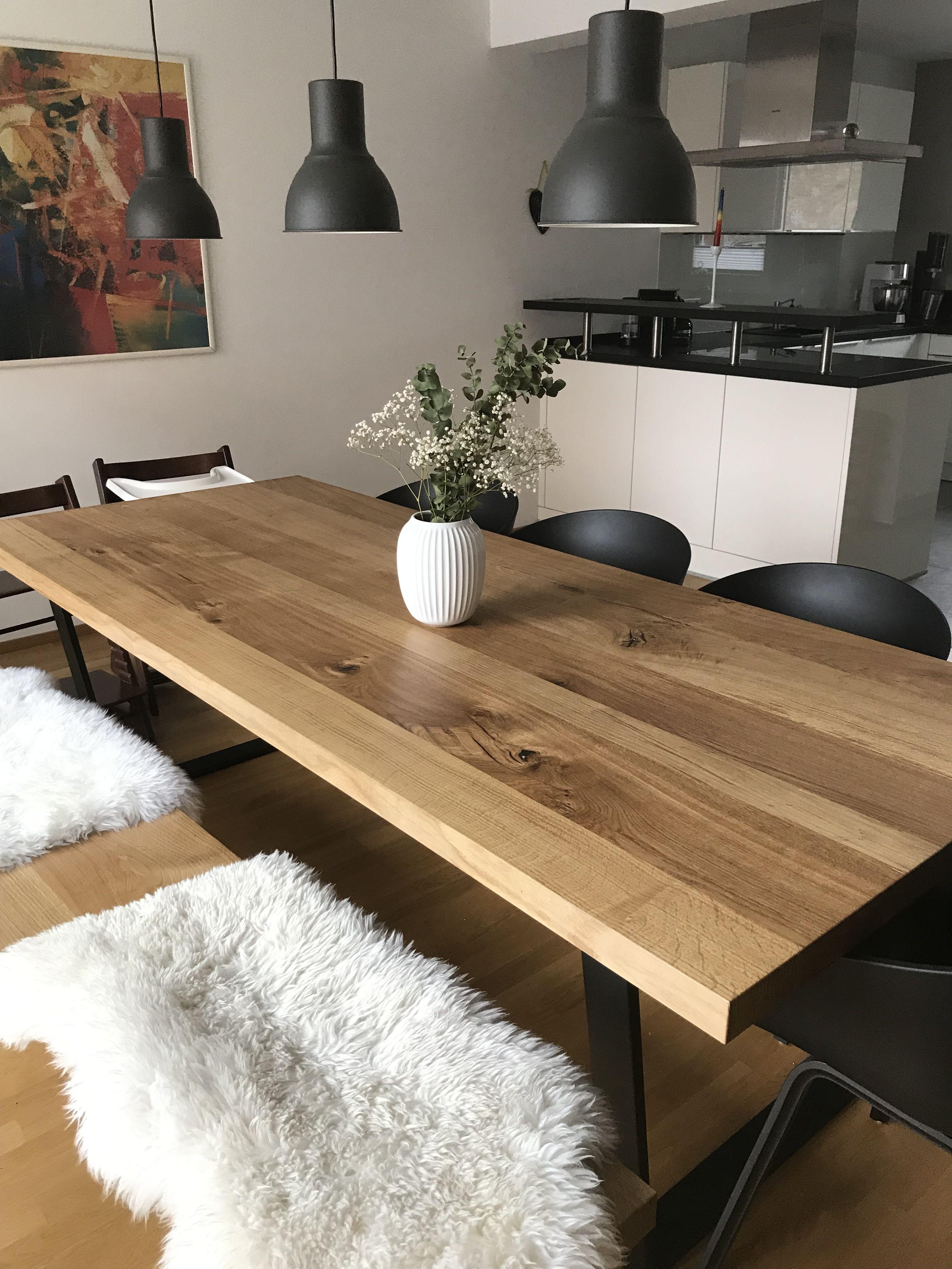 Eiche Tisch rustikal | Haus deko, Esstisch, Bistrotisch